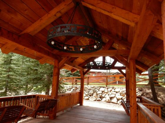 A beautiful bridge built with the wood from the property at Priest Gulch Campground