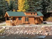 Great cabins to rent along the river at Priest Gulch Campground