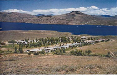 Great location to camp at Gunnison Lakeside RV Park and Cabins!