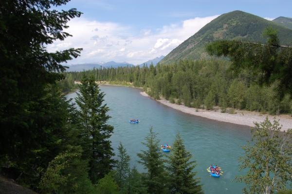Glacier National Park lies just across the Middle Fork of the Flathead River from the West Glacier RV Park.