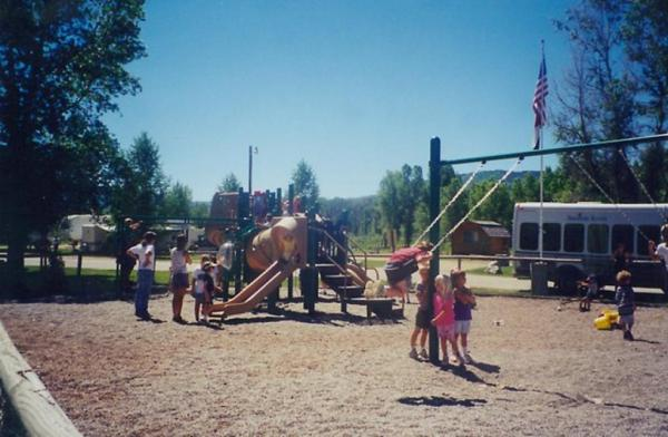 Great playground for kids at Steamboat Springs KOA in Colorado