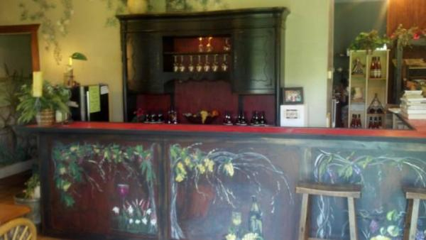 Wine Tasting Area at Grapefull Sisters Vineyard