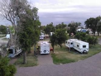 RV sites at Shady Grove Campground, Seibert Colorado