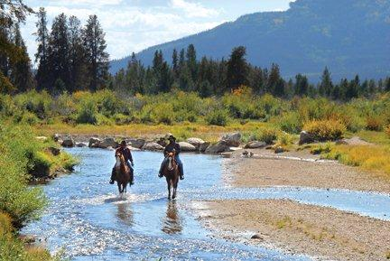 Horse back riding is a popular activity at Winding River Resort in Grand Lake