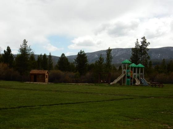 Great play area for kids at Winding River Resort Village in Grand Lake